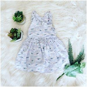 { janie & jack } lavender floral ruffle baby dress